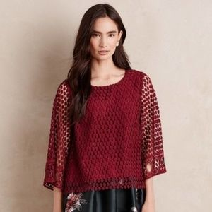 NWOT Anthropologie Wine Country Blouse